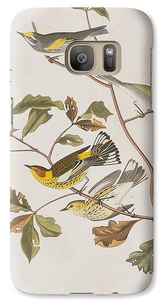 Warbler Galaxy S7 Case - Golden Winged Warbler Or Cape May Warbler by John James Audubon