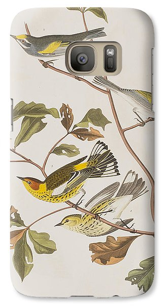 Golden Winged Warbler Or Cape May Warbler Galaxy S7 Case by John James Audubon
