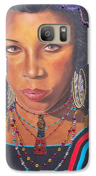 Galaxy Case featuring the painting Golden Wodaabe Girl by Sigrid Tune