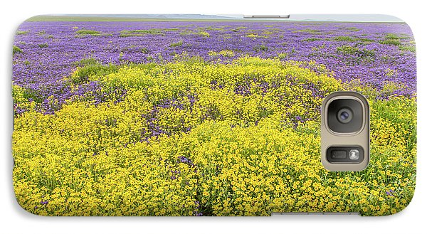 Galaxy Case featuring the photograph Goldfield And Phacelia by Marc Crumpler