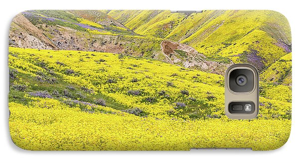 Galaxy Case featuring the photograph Goldfields And Temblor Hills by Marc Crumpler