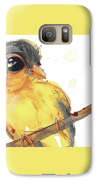 Galaxy Case featuring the painting Goldfinch by Dawn Derman