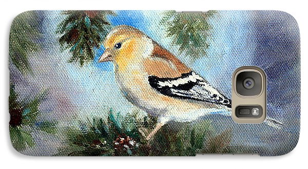 Galaxy Case featuring the painting Goldfinch In A Tree by Brenda Thour