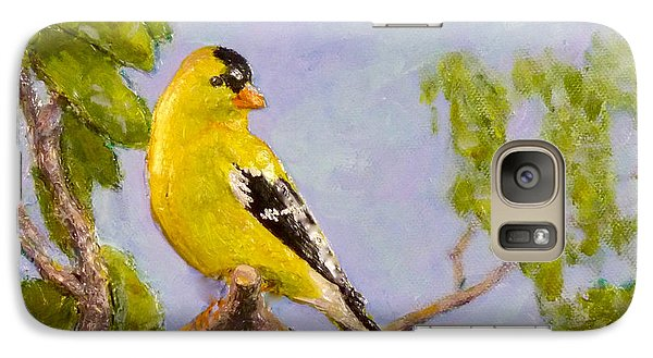 Galaxy Case featuring the painting Goldfinch by Joe Bergholm