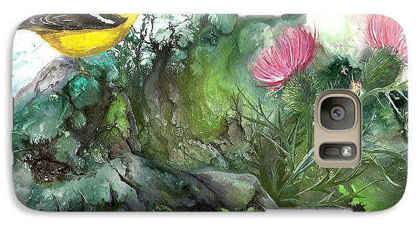 Galaxy Case featuring the painting Goldfinch by Sherry Shipley
