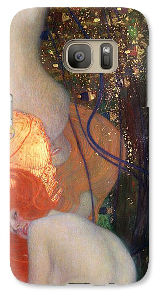 Goldfish Galaxy S7 Case - Goldfish by Gustav Klimt