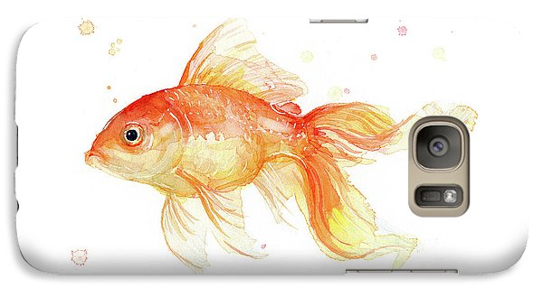 Goldfish Galaxy S7 Case - Goldfish Painting Watercolor by Olga Shvartsur