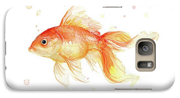 Goldfish Painting Watercolor Galaxy S7 Case by Olga Shvartsur