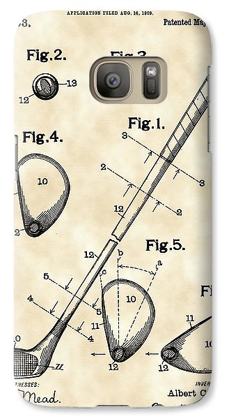 Sports Galaxy S7 Case - Golf Club Patent 1909 - Vintage by Stephen Younts