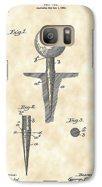 Golf Tee Patent 1899 - Vintage Galaxy S7 Case