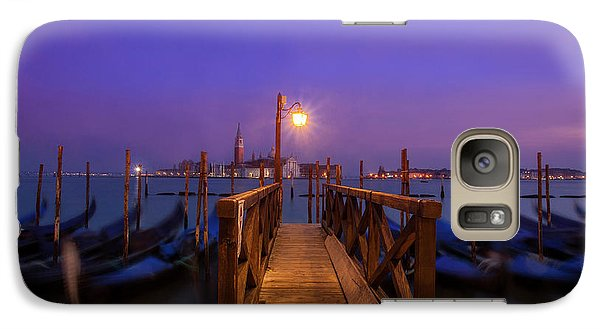 Galaxy Case featuring the photograph Gondolas At Dawn by Andrew Soundarajan