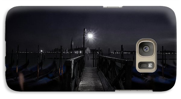 Galaxy Case featuring the photograph Gondolas In The Night by Andrew Soundarajan