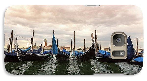 Galaxy Case featuring the photograph Gondolas In Venice by Melanie Alexandra Price