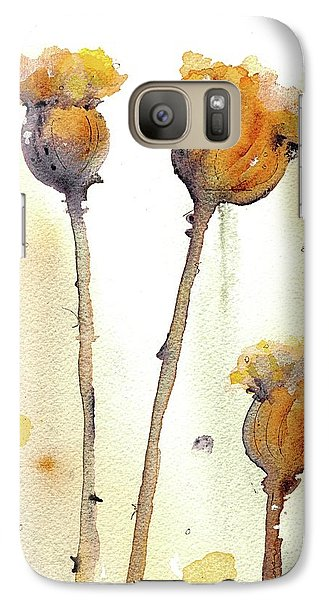 Galaxy Case featuring the painting Gone To Seed by Dawn Derman