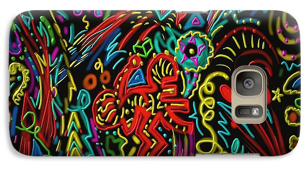 Galaxy Case featuring the painting Gone Wild by Kevin Caudill