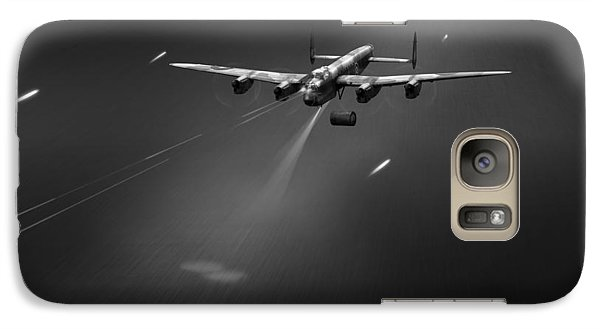 Galaxy Case featuring the photograph Goner From Dambuster J-johnny Bw Version by Gary Eason