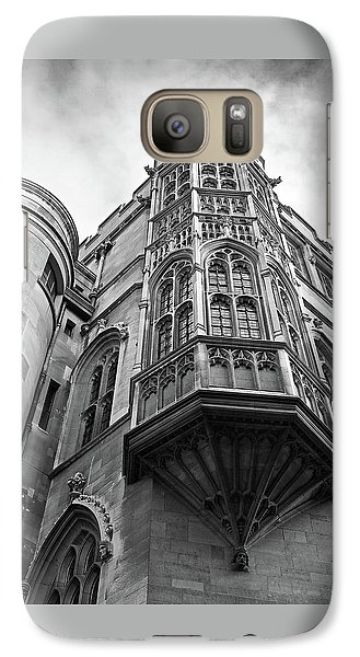 Galaxy Case featuring the photograph Gonville And Caius College Library Cambridge In Black And White by Gill Billington