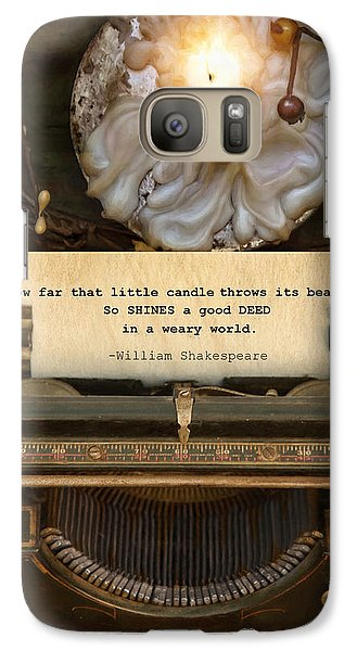 Galaxy Case featuring the photograph Good Deeds by Robin-Lee Vieira