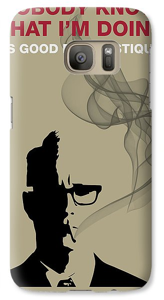 Good For Mystique - Mad Men Poster Roger Sterling Quote Galaxy S7 Case