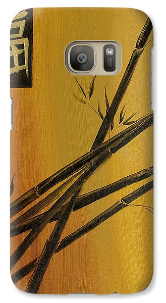 Galaxy Case featuring the painting Good Fortune Bamboo 1 by Dina Dargo