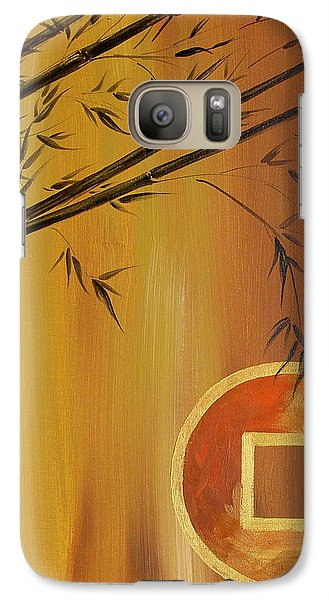 Galaxy Case featuring the painting Good Fortune Bamboo 2 by Dina Dargo