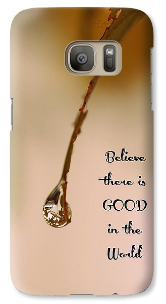Galaxy Case featuring the mixed media Good In The World by Trish Tritz