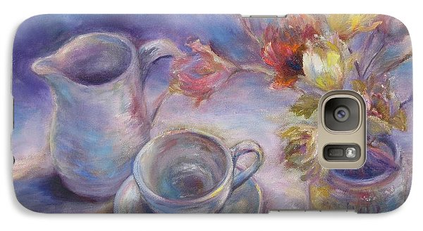 Galaxy Case featuring the painting Good Morning by Bonnie Goedecke