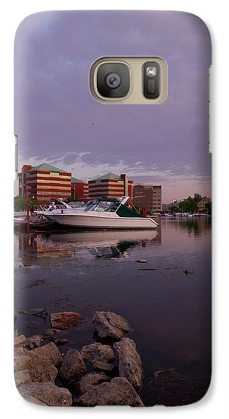 Galaxy Case featuring the photograph Good Morning Harbor by Joel Witmeyer