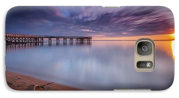 Galaxy Case featuring the photograph good morning Mr. Sun   by Edward Kreis