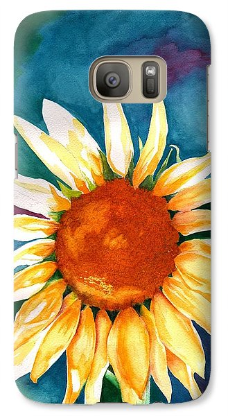 Galaxy Case featuring the painting Good Morning Sunflower by Sharon Mick