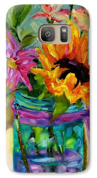 Galaxy Case featuring the painting Good Morning Sunshine by Chris Brandley