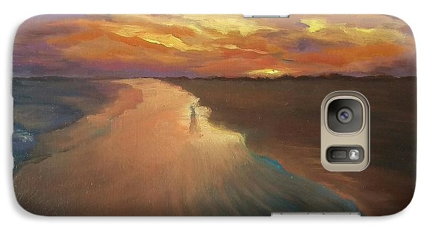 Galaxy Case featuring the painting Good Night by Alla Parsons