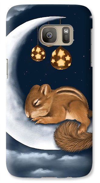 Galaxy Case featuring the painting Good Night by Veronica Minozzi