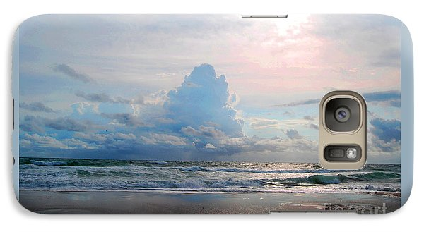 Galaxy Case featuring the photograph Goodbye Storm by Linda Mesibov