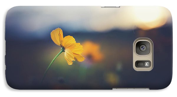 Galaxy Case featuring the photograph Goodnight Sun by Shane Holsclaw