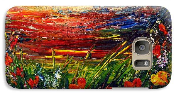 Galaxy Case featuring the painting Goodnight... by Teresa Wegrzyn
