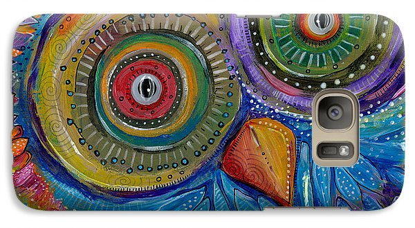 Galaxy Case featuring the painting Googly-eyed Owl by Tanielle Childers