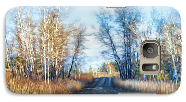 Galaxy Case featuring the photograph Goose Lake Road by Theresa Tahara