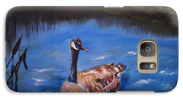Galaxy Case featuring the painting Goose by Leslie Allen
