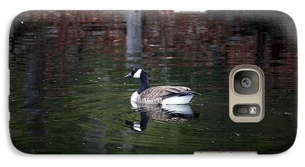 Galaxy Case featuring the photograph Goose On A Pond by Jeff Severson