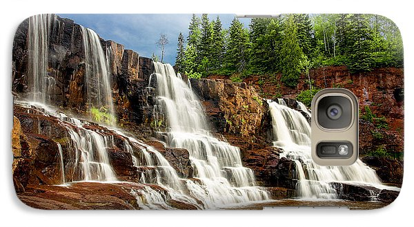 Galaxy S7 Case featuring the photograph Gooseberry Falls by Rikk Flohr