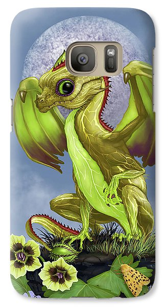 Galaxy Case featuring the digital art Gooseberry Dragon by Stanley Morrison