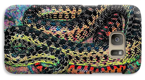 Galaxy Case featuring the photograph Gopher Snake by Pamela Cooper