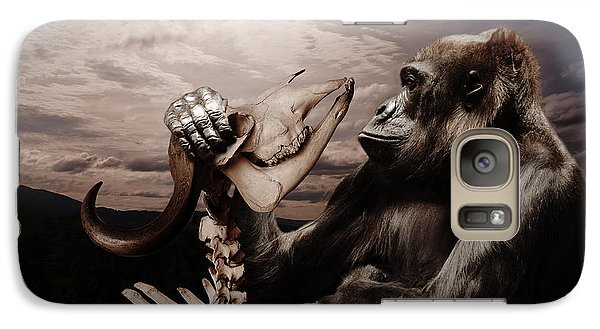 Galaxy Case featuring the photograph Gorilla And Bones by Christine Sponchia