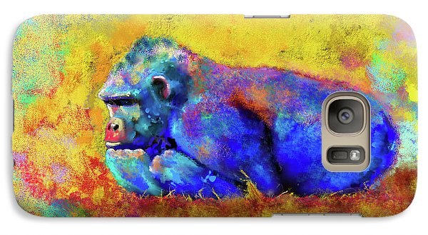 Galaxy Case featuring the photograph Gorilla by Test