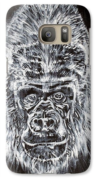 Galaxy Case featuring the painting Gorilla Who? by Fabrizio Cassetta
