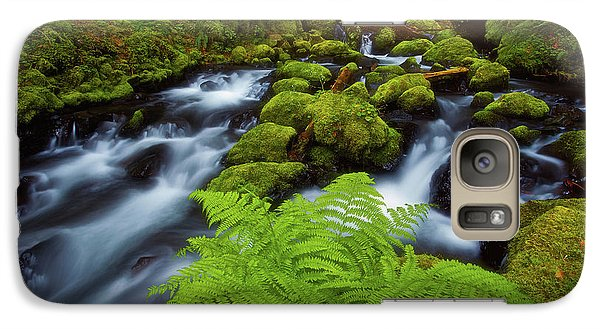 Galaxy Case featuring the photograph Gorton Creek Fern by Darren White