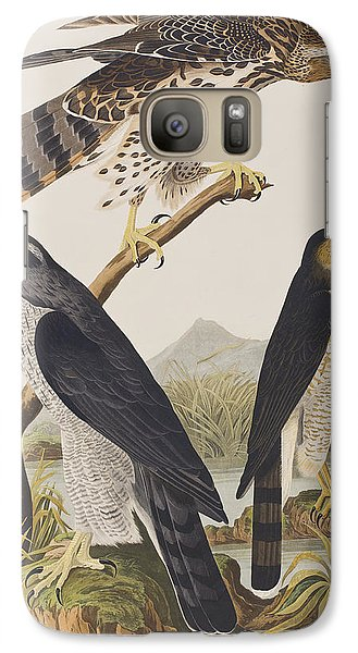 Goshawk And Stanley Hawk Galaxy S7 Case by John James Audubon