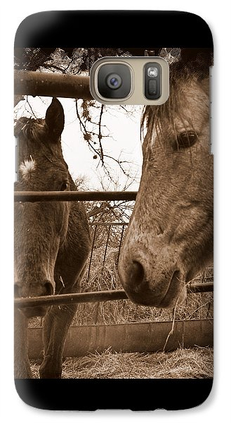 Galaxy Case featuring the photograph Gossip At The Fence by Karen Musick