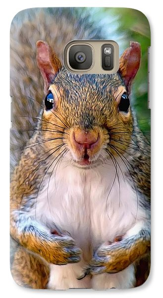 Galaxy Case featuring the photograph Got Any Peanuts by Sue Melvin